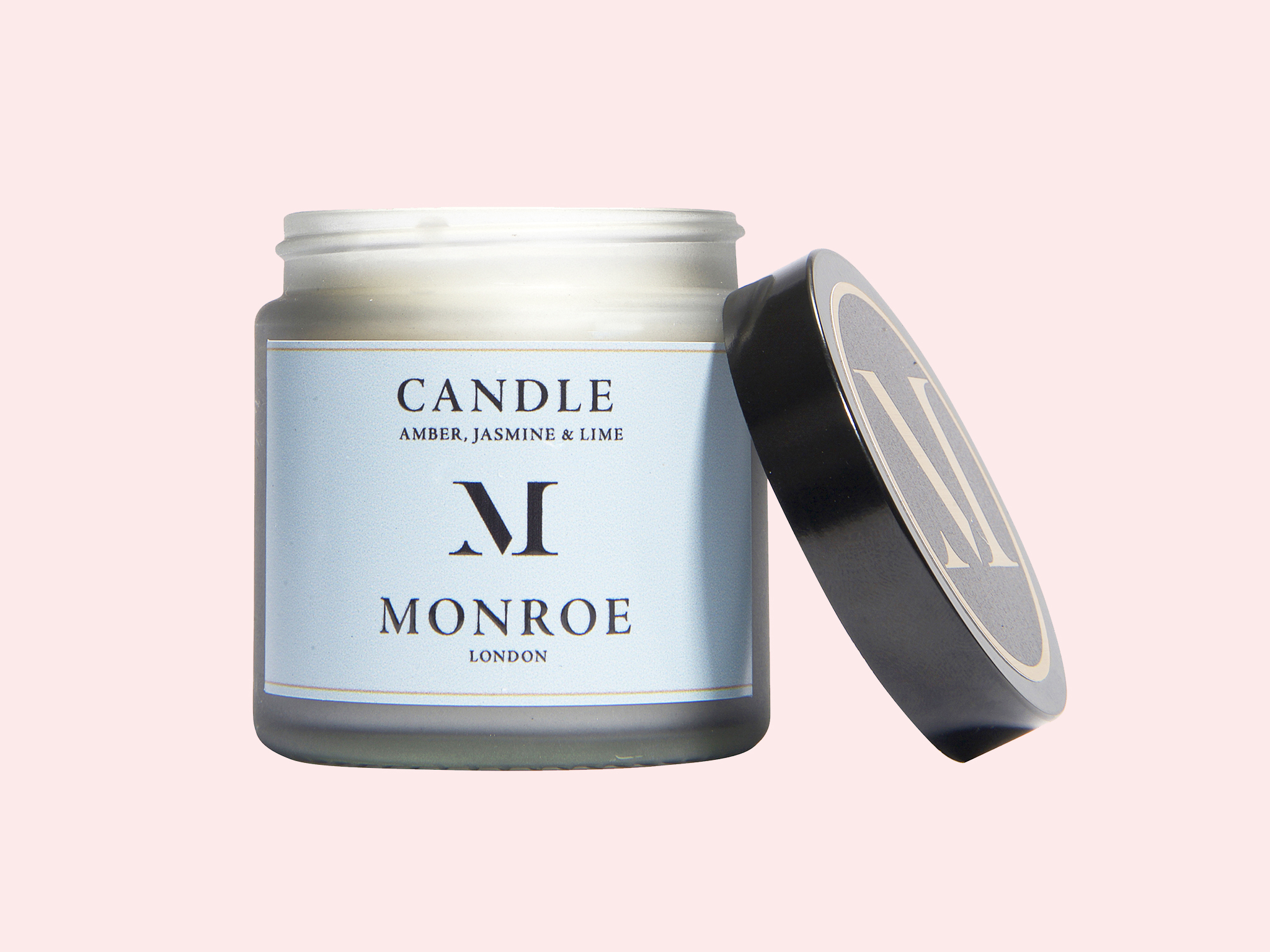 Amber, jasmine & lime candle by Monroe of London