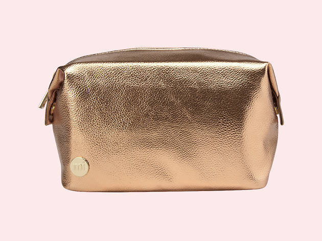 Rose gold wash bag by Mi-Pac