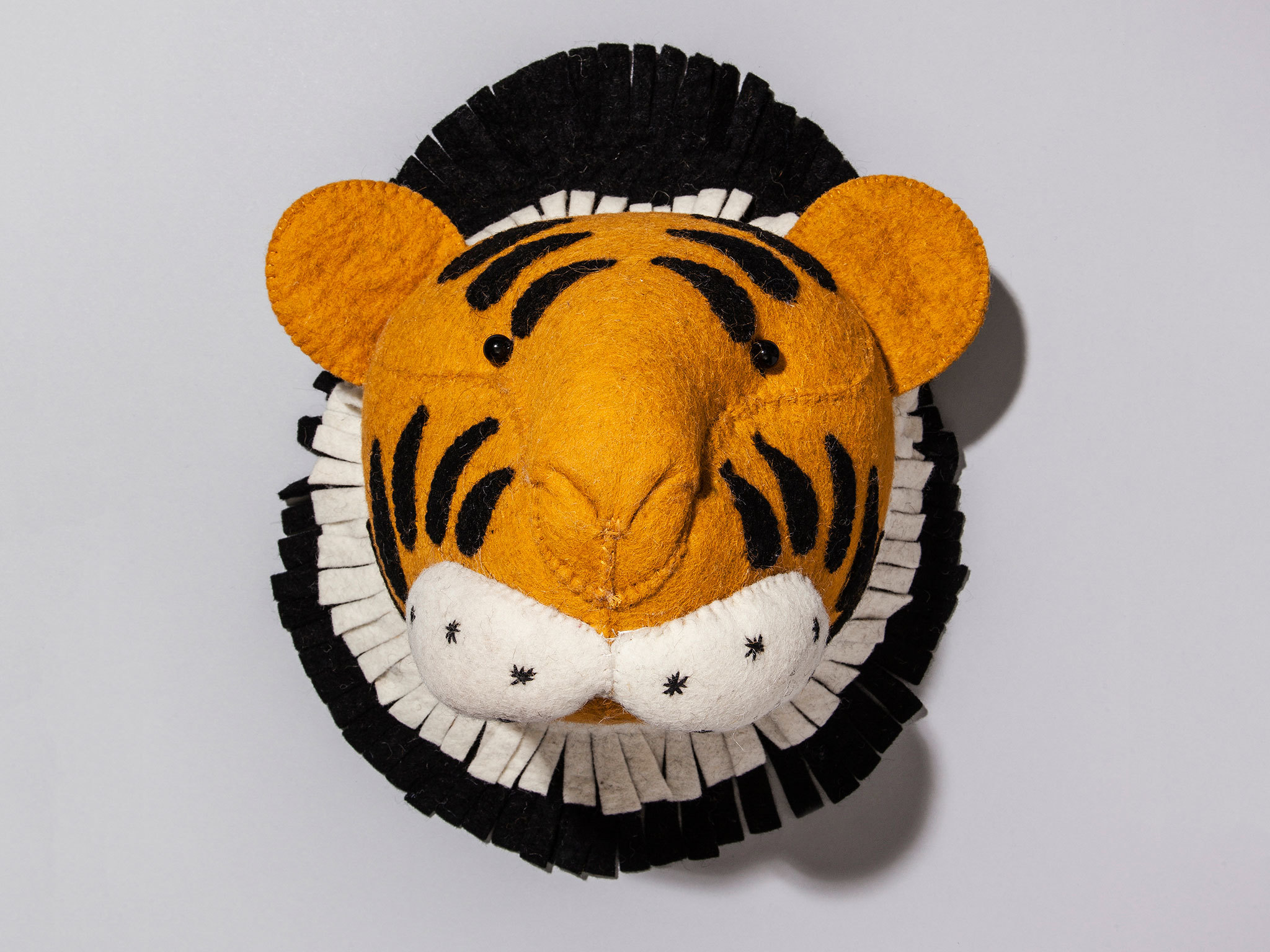 Wool tiger head by British Library