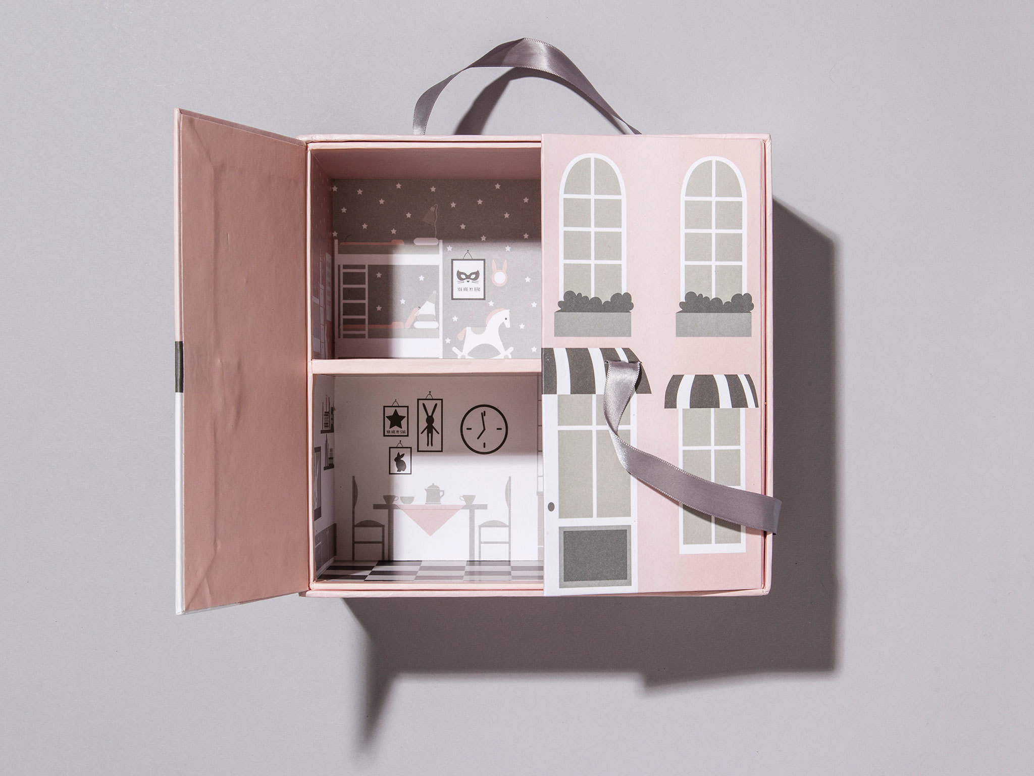 Cardboard doll's house by H&M