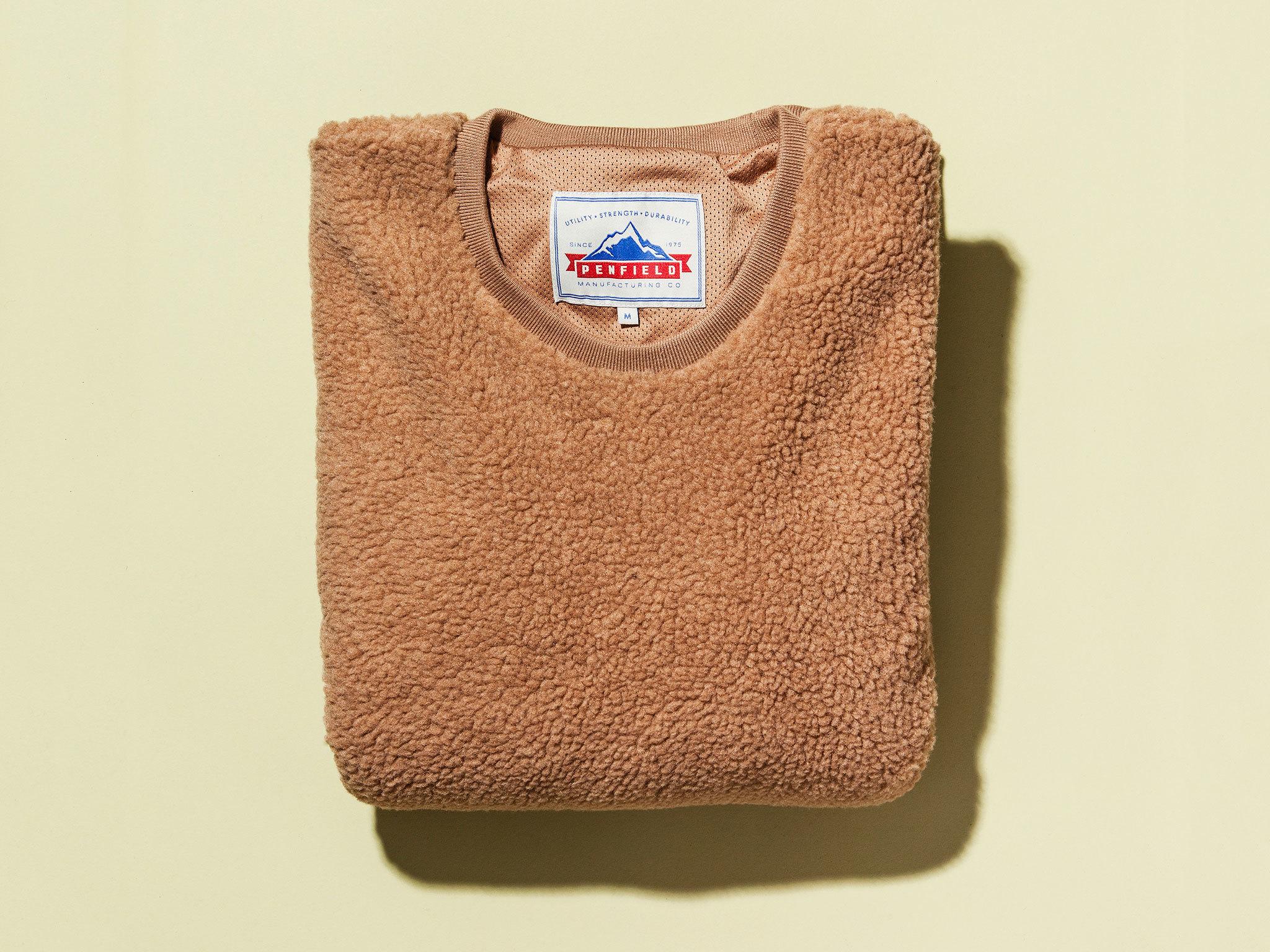 Caramel fleece jumper by Penfield