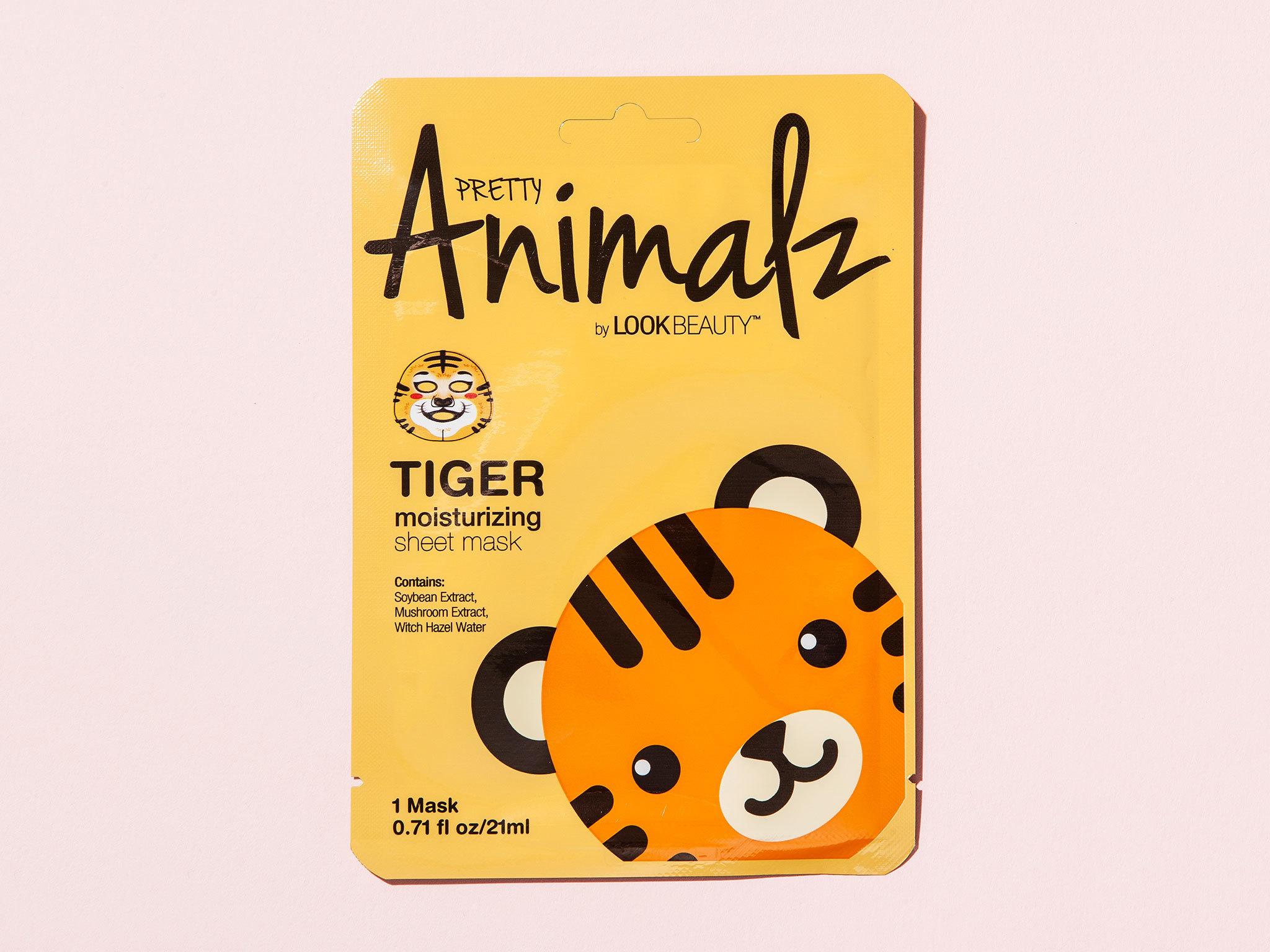 Tiger moisturising sheet mask by Pretty Animalz