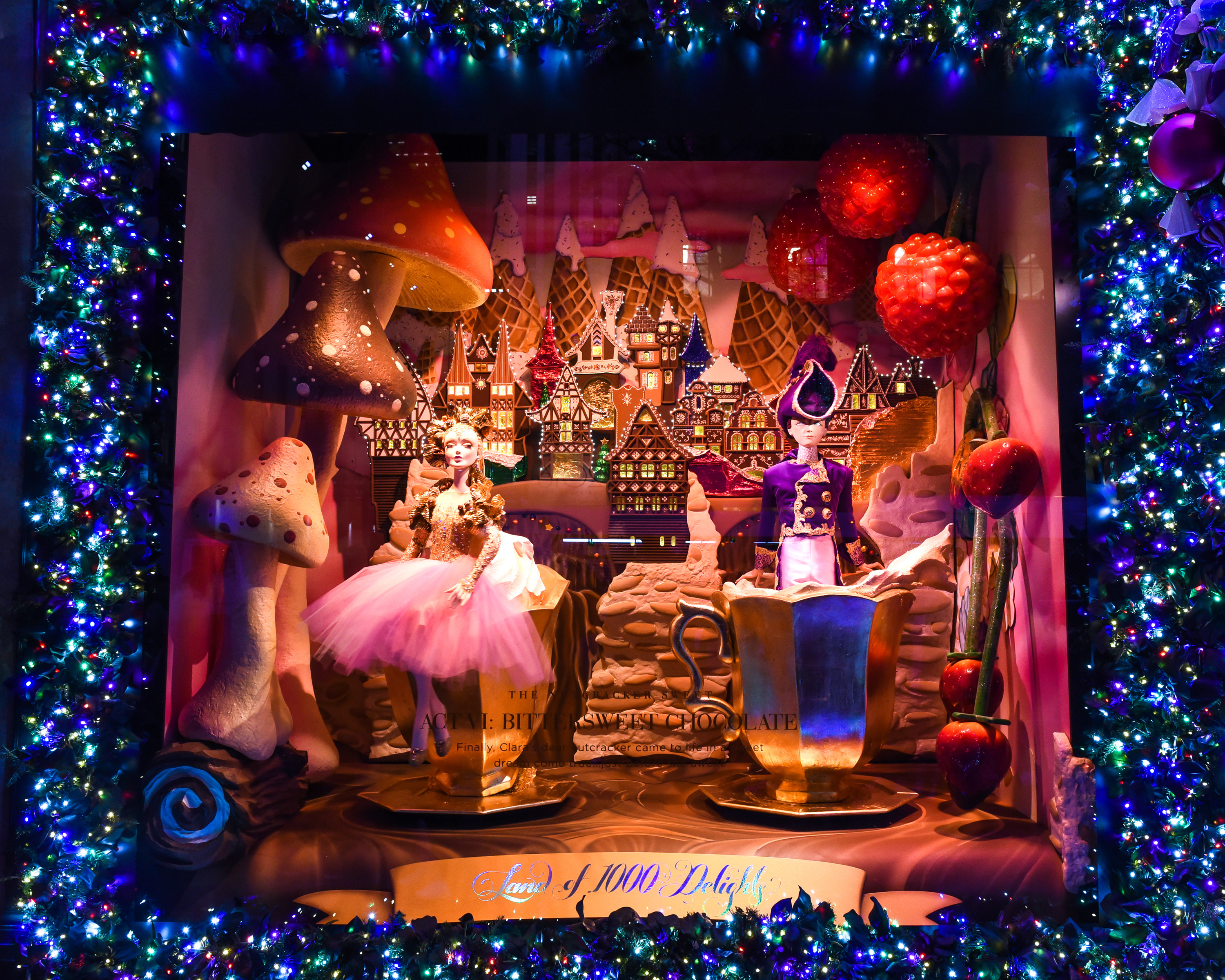 See photos of this year\'s holiday window display at Saks Fifth Avenue