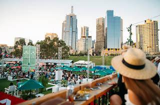 Royal Croquet Club Melbourne skyline