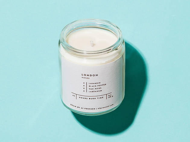 London scented candle by 42 Pressed