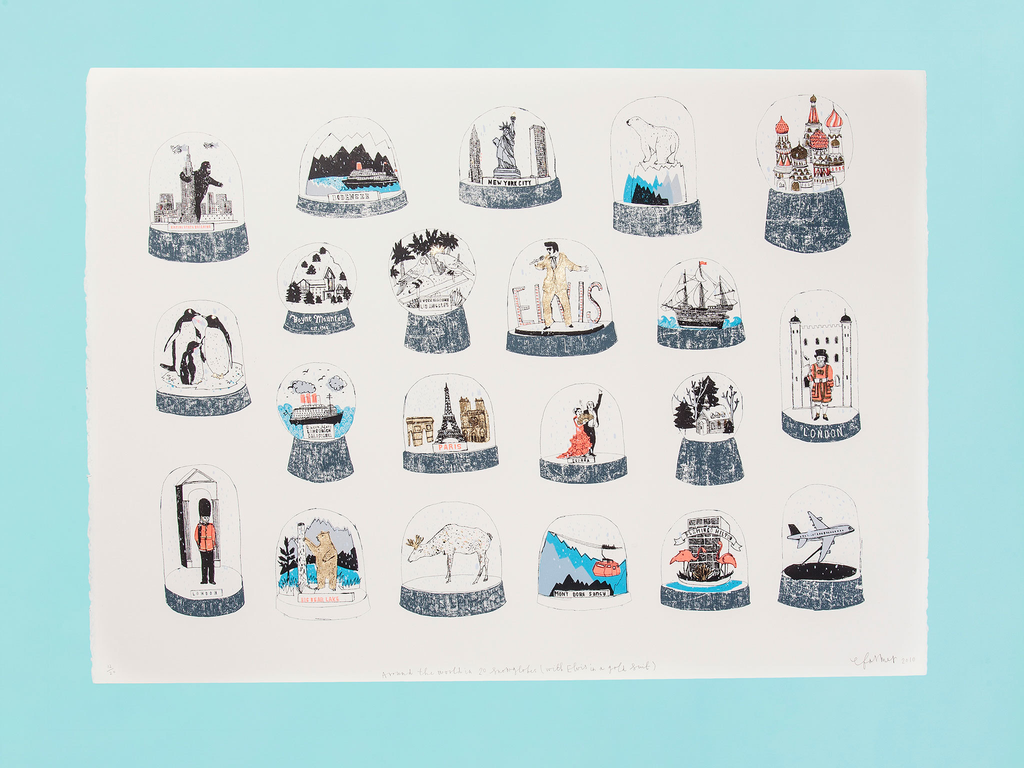 Christmas gift guide: gadgets - Snowglobes of the World print