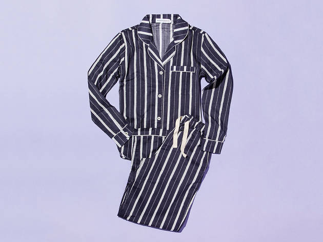 Striped pyjama set by Desmond & Dempsey
