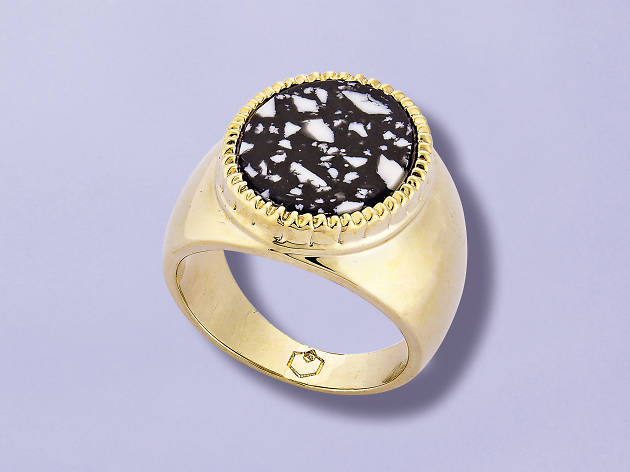 Gold signet ring by O Thongthai