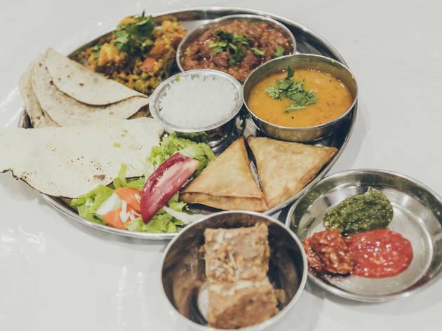 Restaurante, Templo Hindu Radha Krishna, Cozinha Indiana
