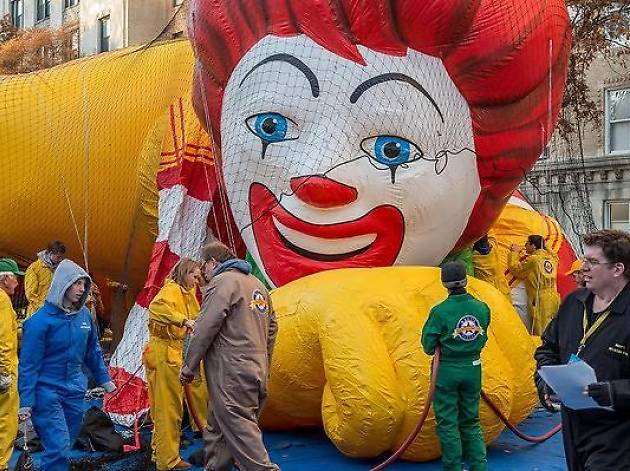 Head uptown today to watch the Macy's Thanksgiving Day Parade balloons get inflated