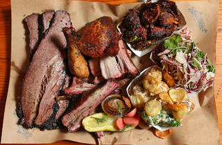 Platter at Bluebonnet BBQ (Photograph: Graham Denholm)