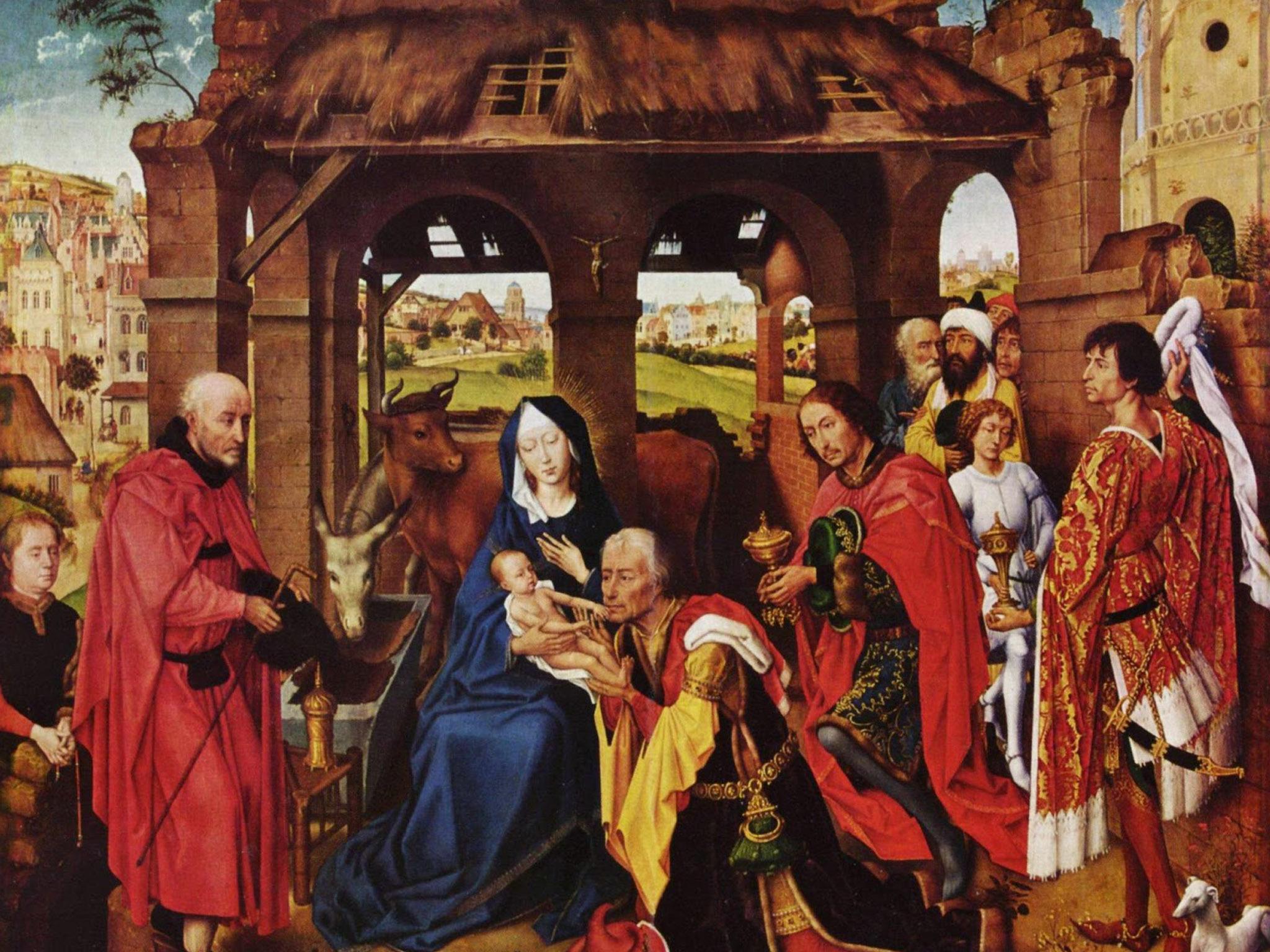 a adoração de magi de  rogier van der weyden