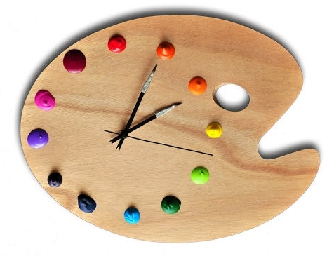 palette peintre horloge