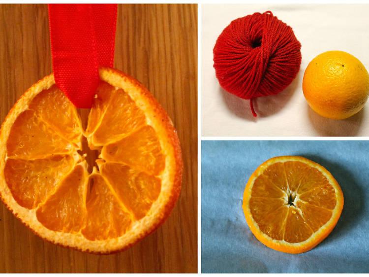 Des rondelles d'orange séchée