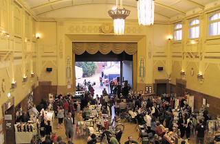 Town Hall with stall holders and shoppers