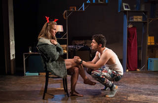 The Last Five Years 2016 Vic Theatre Company at fortyfivedownstairs production still 01 feat Verity Hunt-Ballard and Josh Piterman photographer credit James Terry Photography