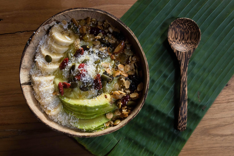 Granola bowl at Seven