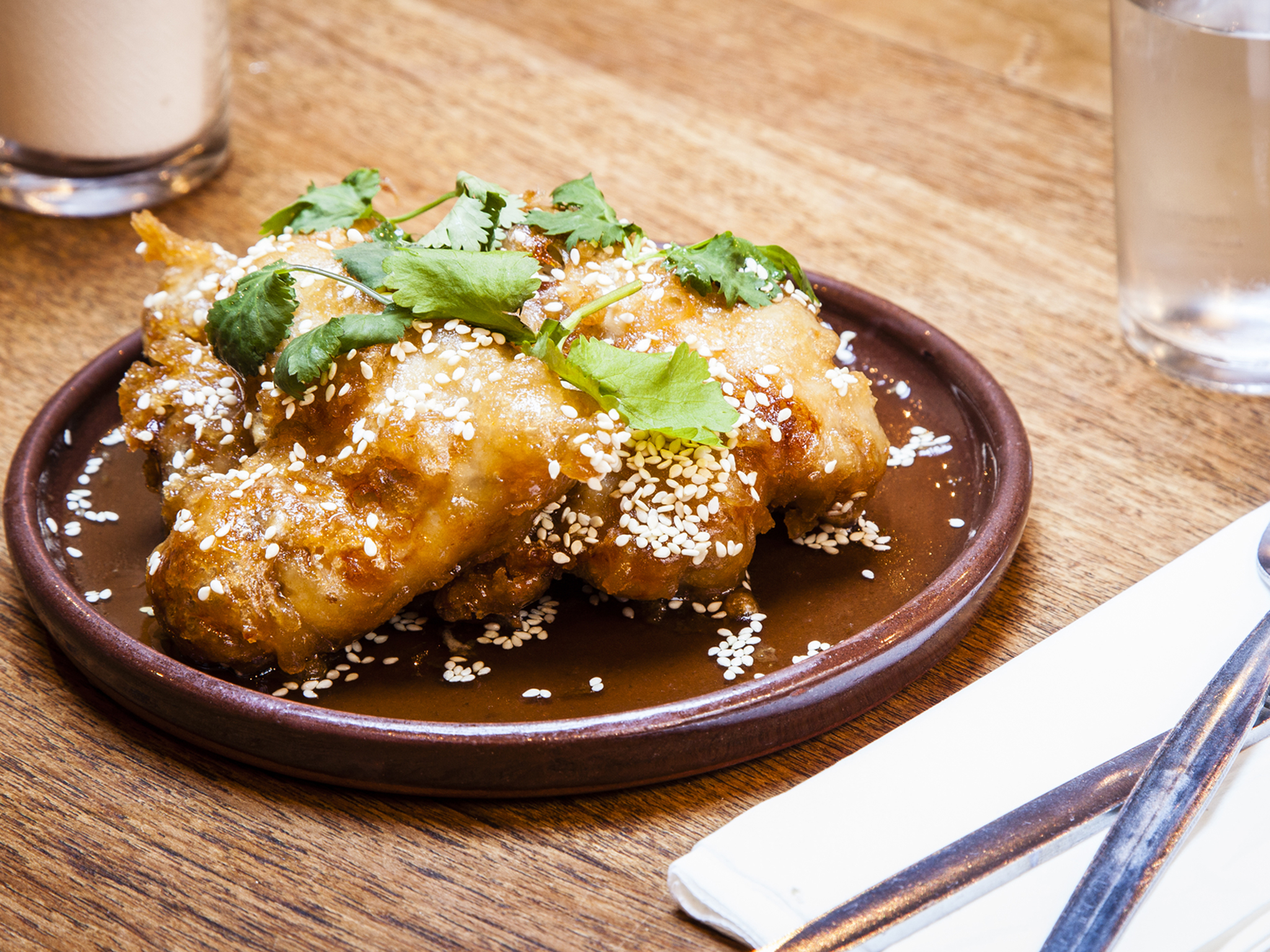Fish sauce wings at Smoking Goat