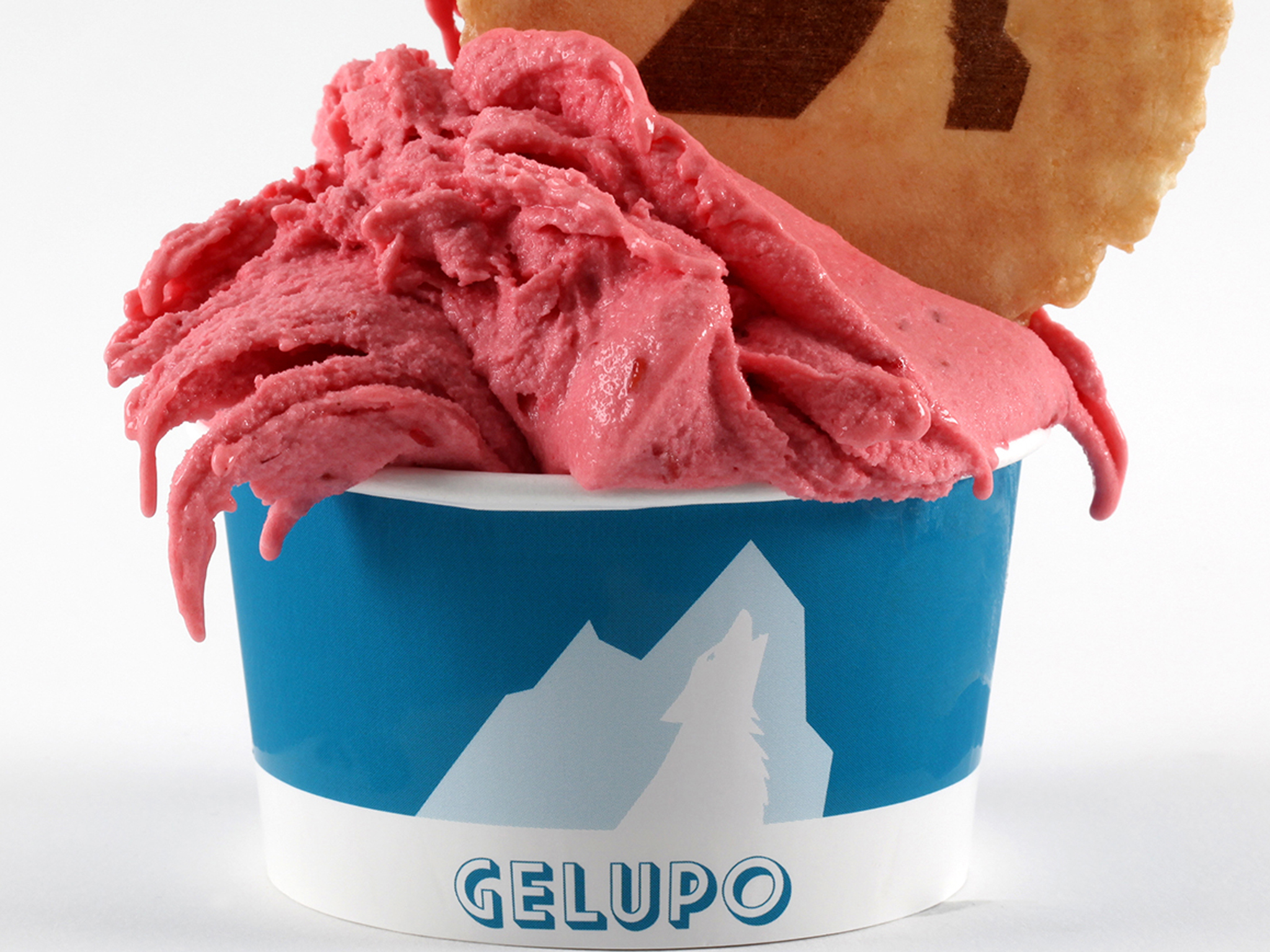 Blood orange sorbet at Gelupo