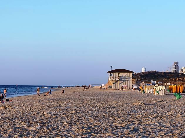 La plage de Poleg