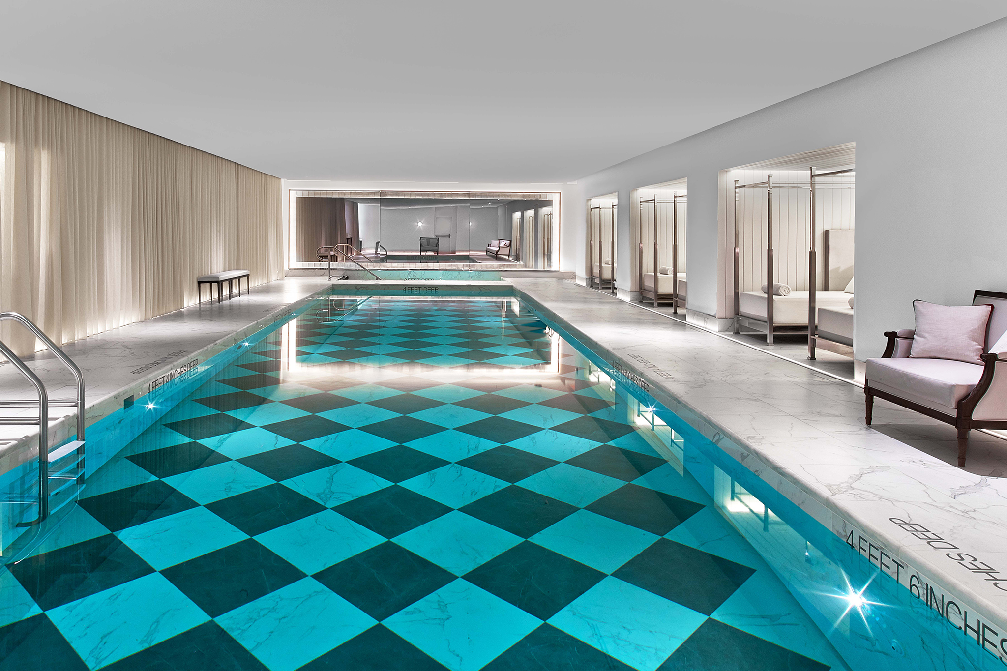 Best hotels with indoor pools in spas or on rooftops in nyc for New swimming pool