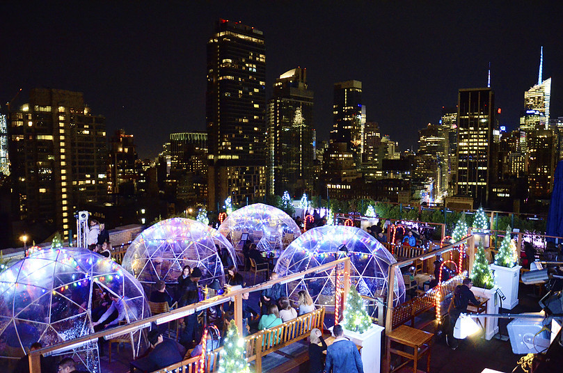 Go have a drink in this awesome rooftop igloo this winter