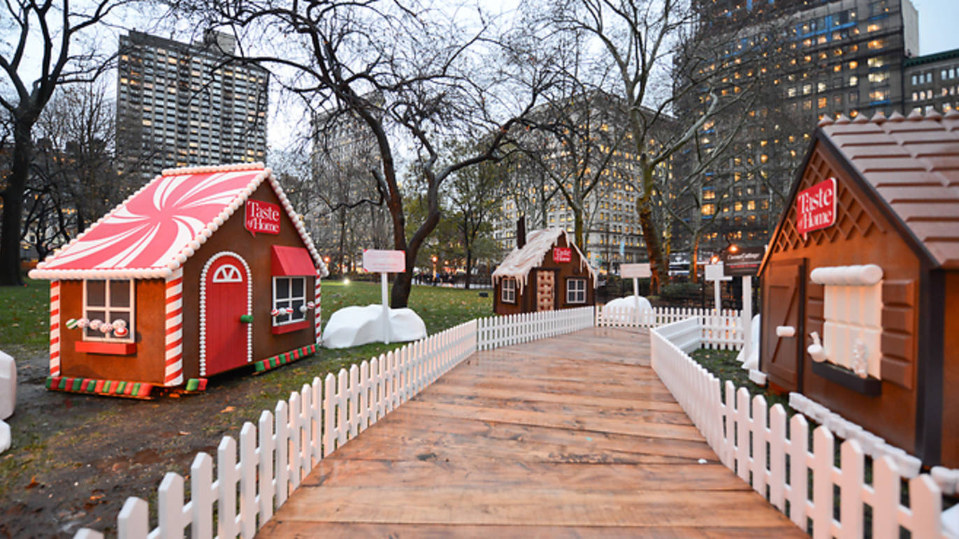 Walk through a life-size gingerbread village in Mad. Sq. Park next month