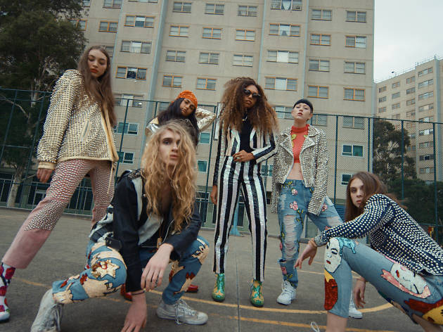 Six models wearing Discount Universe