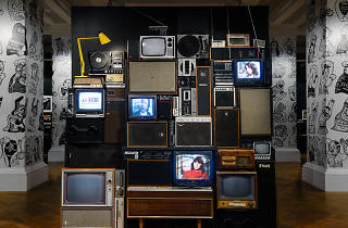 Multimedia installation at Triple R exhibition at the State Library