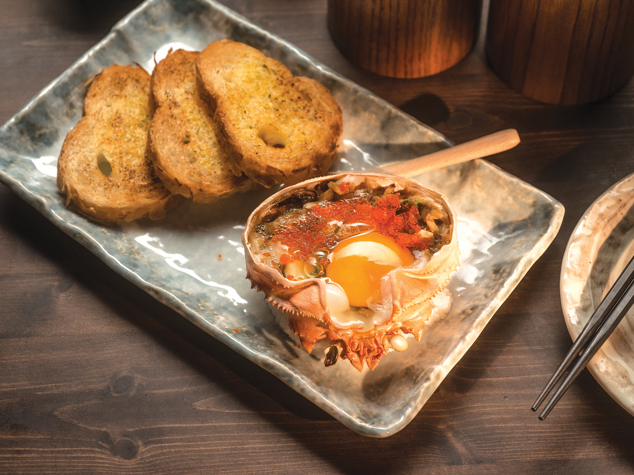 Sakaya's crab meat with miso