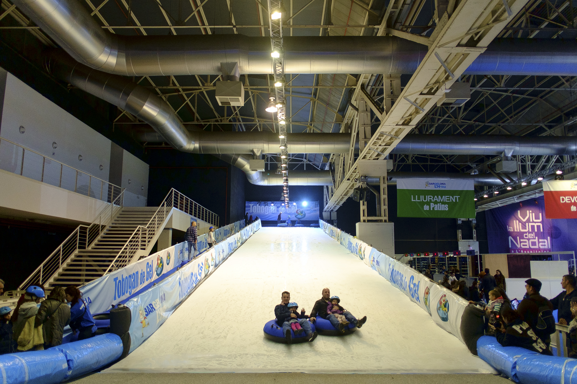 Ice-skating rink (and slide!)