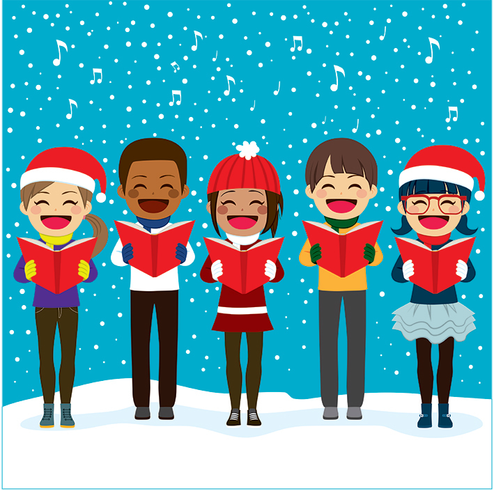 Sing along with the carols