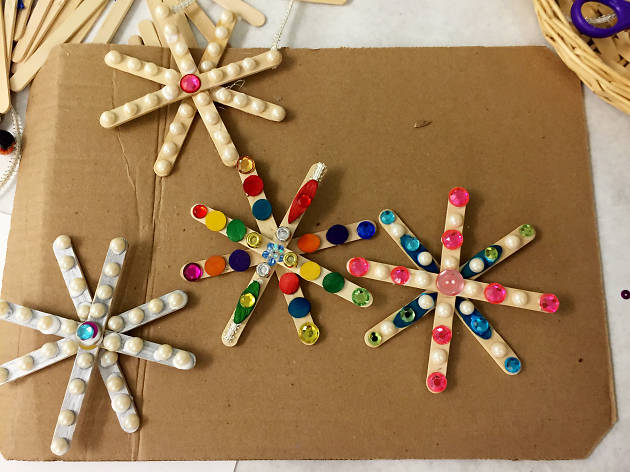 Family Art Project: Snowflakes, Candles and Stars
