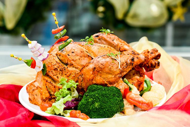 Tandoori-stuffed Turkey with Masala Gucchi Briyani ($149)