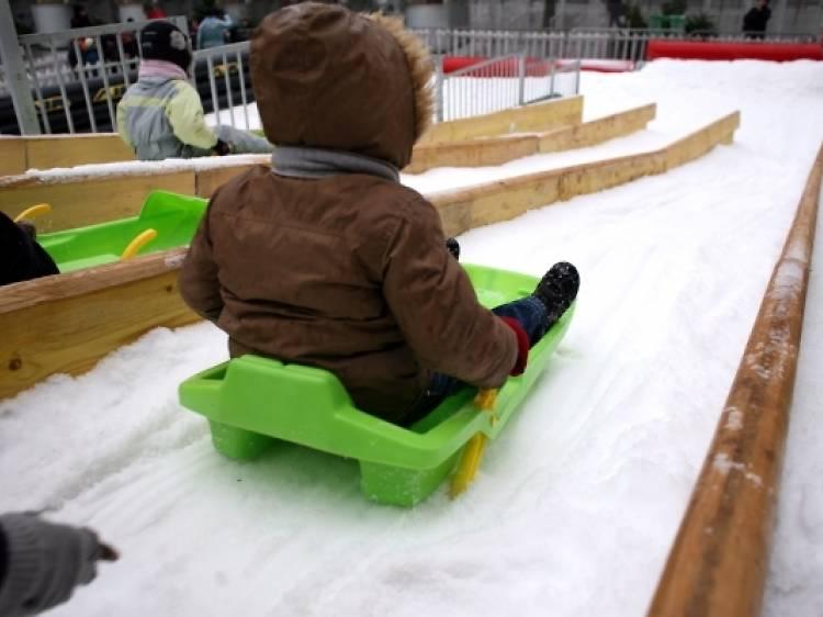 Skier et faire de la luge au Stade Charléty