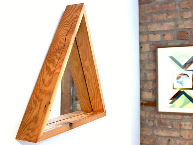 Norman Leigh reclaimed wood mirror