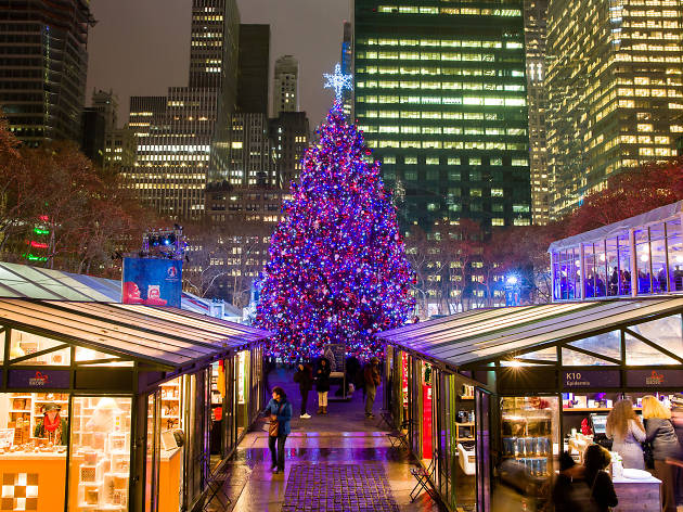 Everything you need to know about the Winter Village at Bryant Park's tree lighting