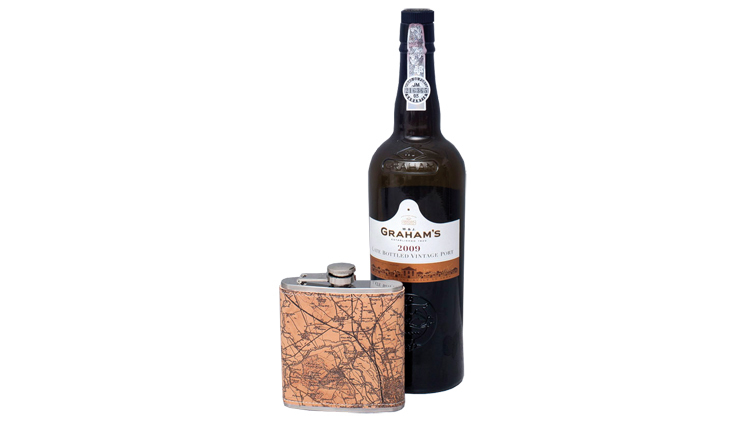 Personalised Leather Hipflask (around $110)