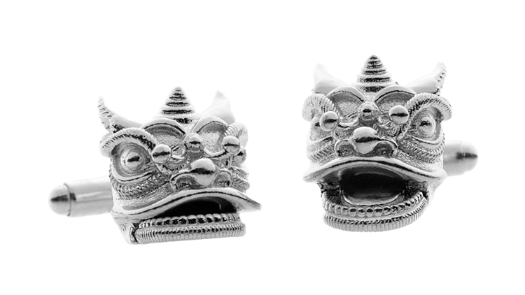 Southern Chinese Lion Cufflinks (around $354)