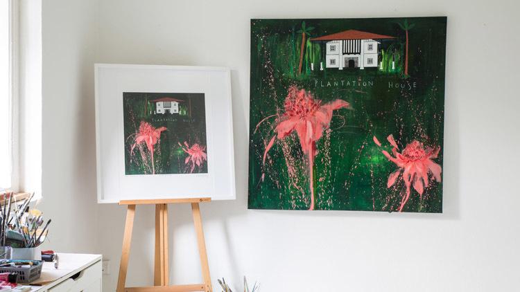 Plantation House Art Print (around $433)