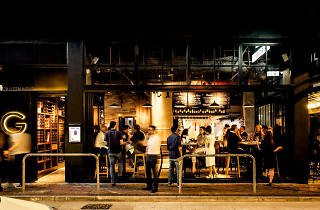 Exterior of Scarlett Wine Bar and Café Hong Kong