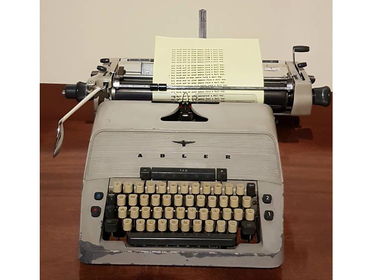 La máquina de escribir que usó Jack Nicholson en El Resplandor