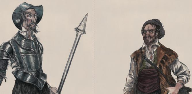 16 personajes que maravillan y... Miguel de Cervantes