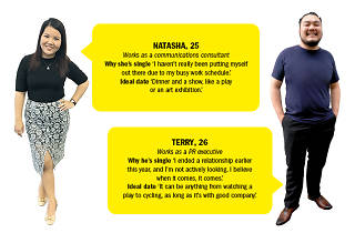 Find me a date - Terry and Natasha