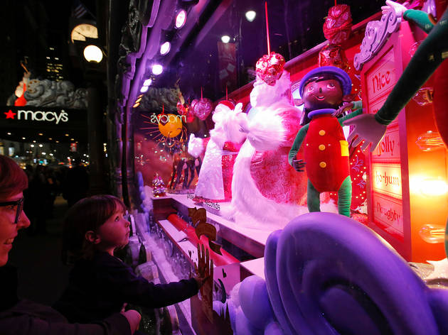 Macy's Herald Square Christmas Window Unveiling