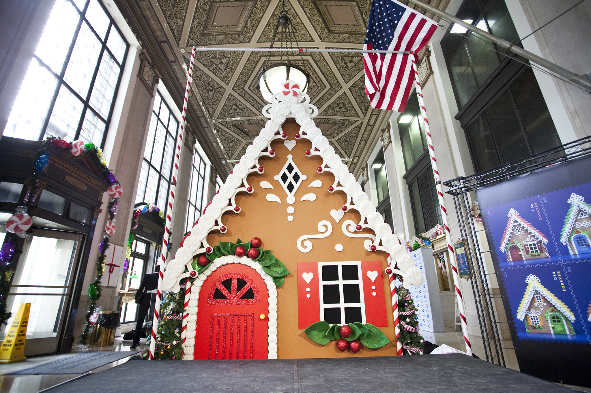 Gingerbread House at James A. Farley Post Office Building