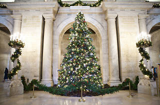 New York Public Library Christmas tree