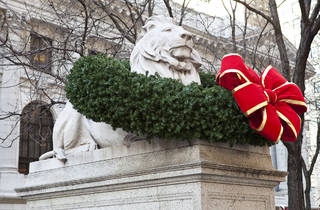 New York Public Library holiday lions