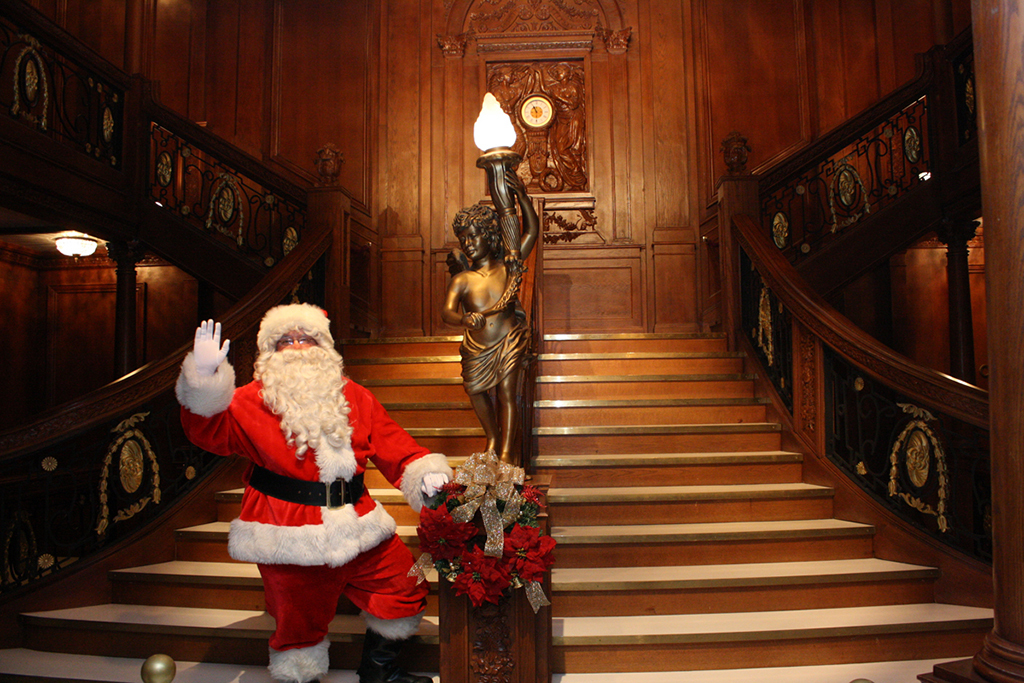 Santa at Titanic: The Artifact Exhibition