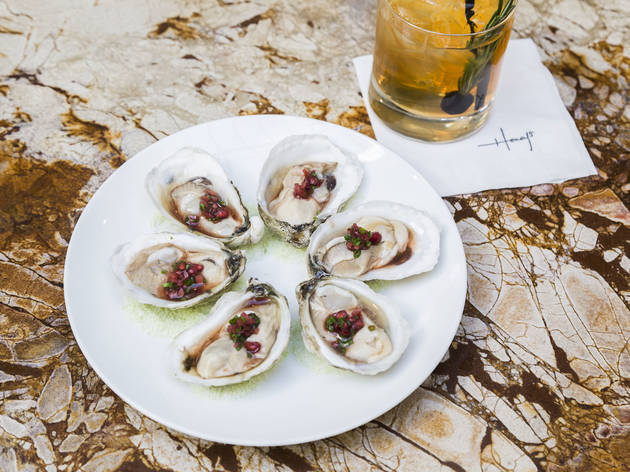 Oysters at Honey's